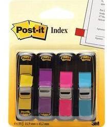Samolepiace záložky - prúžky Post-it 7000052572, (d x š x v) 12.7 x 11.9 x 43.2 mm, 4 ks