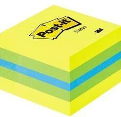 Samolepiaci blok Post-it 2051-L, (š x v) 51 mm x 40 mm, modrá, limetkovo zelená, citrónovo žltá, 400 listov