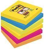 Samolepiaci blok Post-it 6546SR, (š x v) 76 mm x 76 mm, neónovo zelená, ultra modrá, ultra žltá, ultra ružová, neónovo oranžová, 540 listov