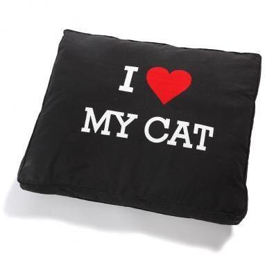 Vankúš I LOVE MY CAT pre mačky, 50x60cm