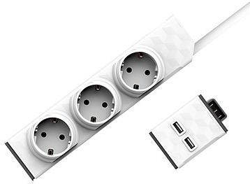 Allocacoc Set PowerStrip Modular Switch 1,5m + USB modul