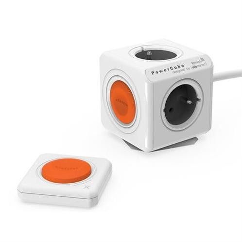 PowerCube Napäťový predlžovací kábel 230V - 4 zásuvky 1,5m s vypínačom a diaľkovým ovládačom KS015PM4S1