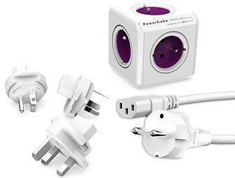 PowerCube Rewirable + Travel Plugs + IEC kabel