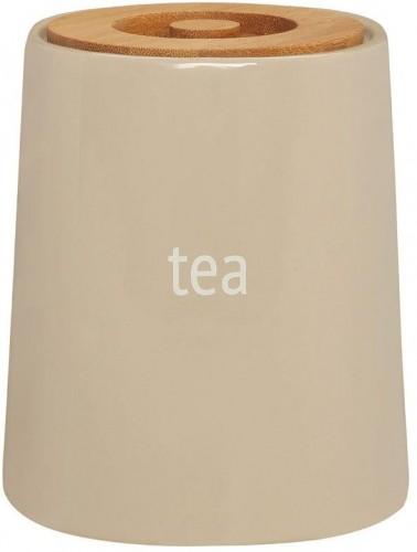 Krémová dóza na čaj s bambusovým vrchnákom Premier Housewares Fletcher, 800 ml