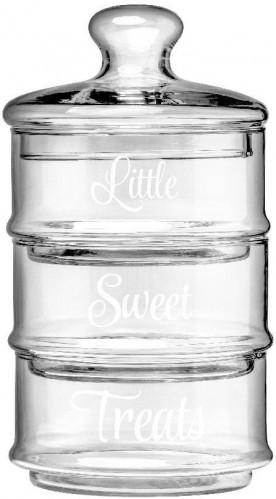 Sada 3 sklenených dóz Premier Housewares Little Sweet Treats