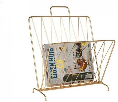 PRESENT TIME Sada 2 ks − Stojan na noviny Diamond Raster – zlatý