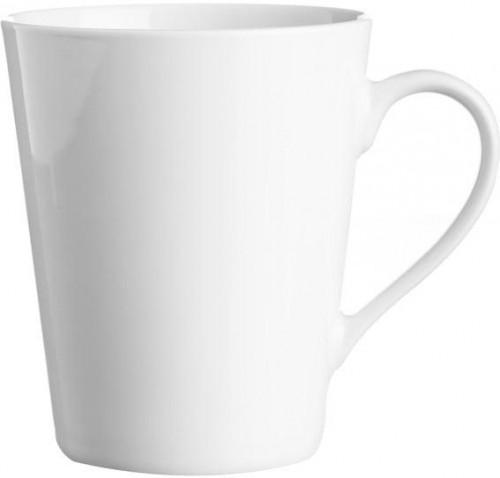 Biely hrnček z porcelánu Price&Kensington Simplicity Conical, 375 ml