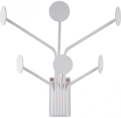 Biely nástenný vešiak na kabáty PT LIVING Dots
