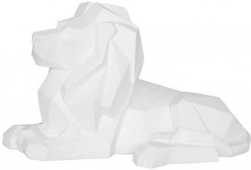 Matne biela soška PT LIVING Origami Lion
