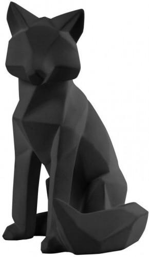 Matne čierna soška PT LIVING Origami Fox, výška 26 cm