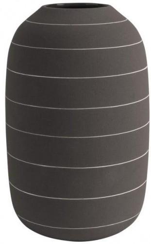 Tmavohnedá keramická váza PT LIVING Terra, ⌀ 16 cm