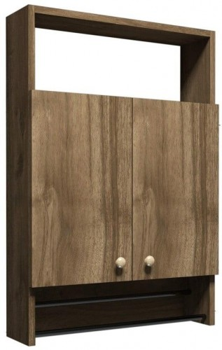 Kúpeľňová skrinka v dekore orechového dreva Muzzo Ela