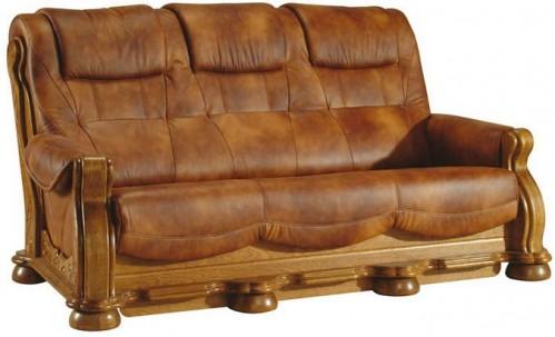Pyka Kožená sedacia súprava CEZAR II Prevedenie: 3-sed / s rozkladom 3R