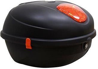 Zadní kufr k elektrickému motocyklu RACCEWAY CENTURY, černý-matný