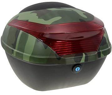 Zadní kufr k elektrickému motocyklu RACCEWAY E-BABETA, maskáč zelený