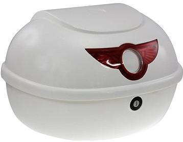 Zadní kufr k elektrickému motocyklu RACCEWAY SMART, bílý-lesklý