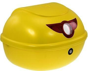 Zadní kufr k elektrickému motocyklu RACCEWAY SMART, žlutý-lesklý
