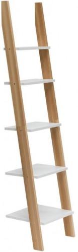 Biela rebríková polica Ragaba ASHME, šírka45cm