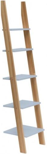 Svetlosivá rebríková polica Ragaba ASHME, šírka45cm