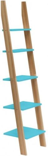 Tyrkysová rebríková polica Ragaba ASHME, šírka45cm