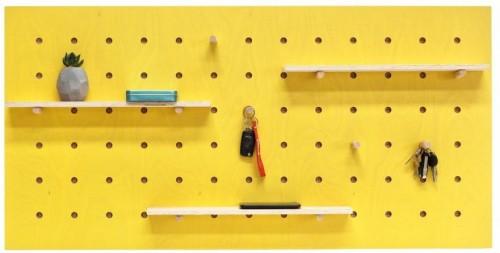 Žltý nástenný organizér Ragaba TRIVENTI, 120×60cm
