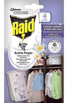 RAID proti molům aktivní závěs čerstvé květy 4 ks