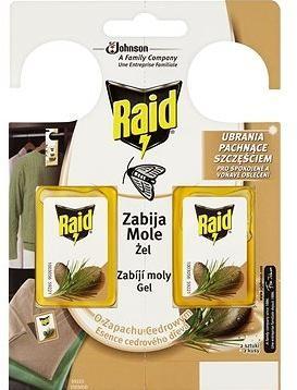 RAID proti molům s vůní cedru 2 ks