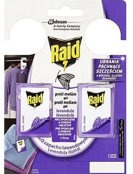 Raid proti molům s vůní levandule 2 x 3 g