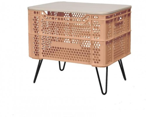 Oranžový konferenčný stolík z recyklovaného plastu Really Nice Things Eco