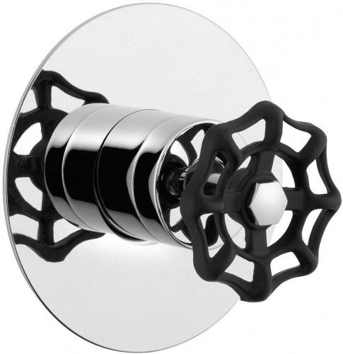 Reitano Rubinetteria - INDUSTRY podomietková sprchová batéria, 1 výstup, chróm/čierna (5105XTT)