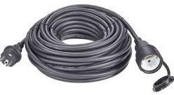 Napájací predlžovací kábel Renkforce 1373173, IP44, čierna, 20 m