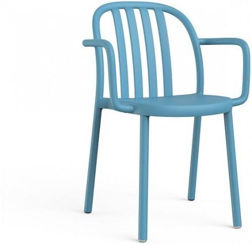 Sada 2 modrých záhradných stoličiek s opierkami Resol Sue