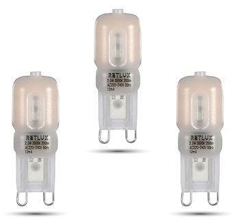 RETLUX RLL 293 G9 2,5 W LED WW, 3ks