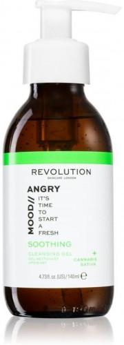Revolution Skincare Angry Mood ukľudňujúci čistiaci penivý gél 140 ml