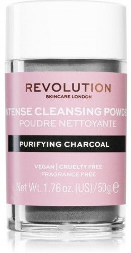 Revolution Skincare Purifying Charcoal jemný čistiaci púder 50 g