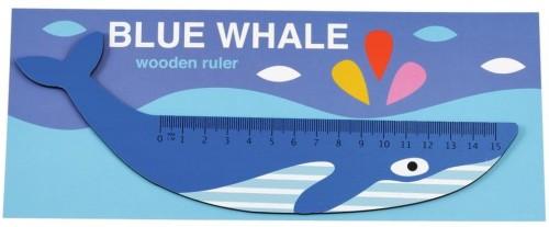 Drevené pravítko v tvare veľryby Rex London Blue Whale