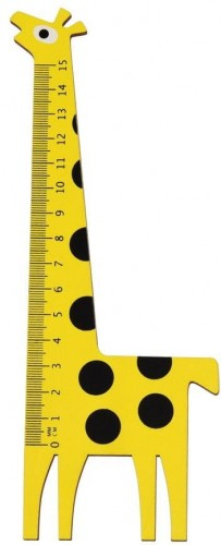 Drevené pravítko v tvare žirafy Rex London Yellow Giraffe