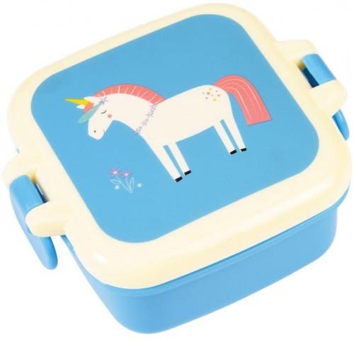 Modrý desiatový box s motívom jednorožca Rex London Magical Unicorn