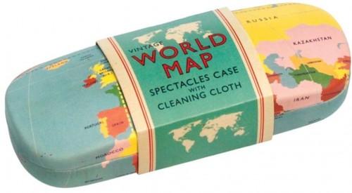 Puzdro na okuliare s čistiacou handričkou Rex London World Map