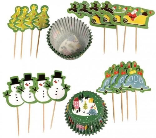 Set na pečenie muffinov s vianočným motívom Rex London Wonderland