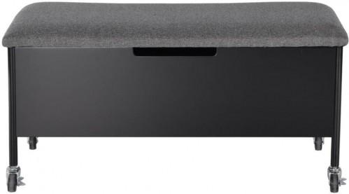 Čierna úložná lavica na kolieskach RGE Sture, 90 x 40 cm