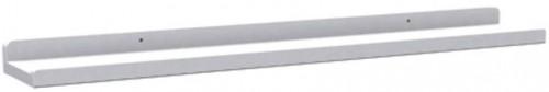 Biela dubová polička na obrázky Rowico Gorgona, dĺžka 70 cm