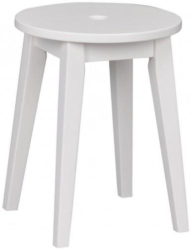 Biela dubová stolička Rowico Gorgona, výška 44 cm