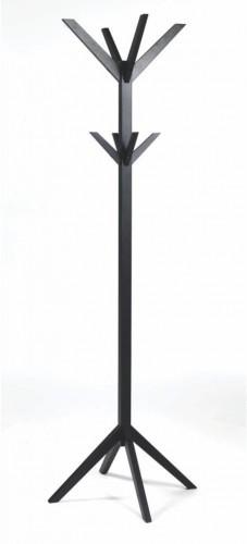 Čierny dubový vešiak na kabáty Rowico Ran