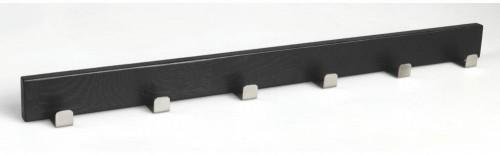 Čierny dubový vešiak so 6 háčikmi Rowico Confetti