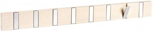 Matne lakovaný bielený dubový vešiak s8výklopnými háčikmi Rowico Odin