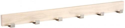 Matne lakovaný dubový vešiak so6háčikmi Rowico Sol