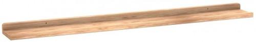 Prírodná dubová polička na obrázky Rowico Gorgona, dĺžka 100 cm