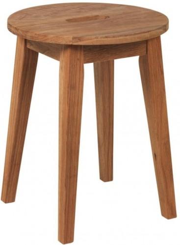 Prírodná nízka dubová stolička Rowico Frigg