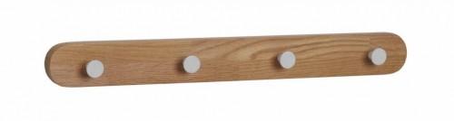 Prírodný dubový vešiak so 4 háčikmi Rowico Gorgona